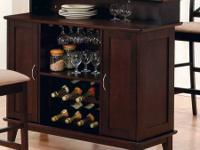 """47"""" Cappuccino Bar by Coaster Furniture Include this"""