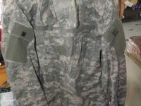 Coat, Army Combat Uniform with Green & Gray Camouflage