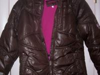 brown girls size 16 hawke & co coat with hood, men's
