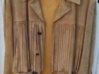 A rare Actual Long Fringe suede leahter jacket form the