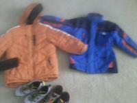 I have 2 coats 1 black wind breaker all size 5 T and 3
