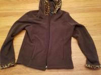 2 COAT JACKETS WITH HOOD AND ZIPPER BROWN AND BLACK