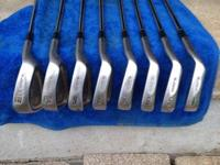 Cobra Oversize irons 4-SW with stiff steel shafts, in