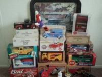Collection includes collectible Coca Cola semi-trucks