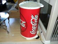 Portable coke cooler ! large and has drain hose and on