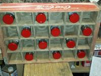 Vintage Coca-Cola wall hanging crate with 12 Coca-Cola