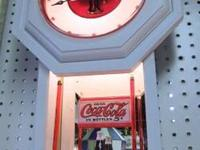 Coca Cola Wall Clock Handcrafted in New Bern NC Dial