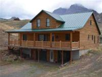 This customized Log home is on the Northfork near the