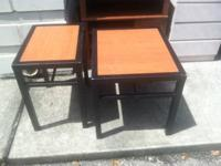 Coffee table $30 Medium end table $15 Small end table