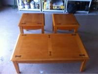 Coffee table and 2 end tables. No scams! Call or text