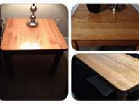 solid oak tables, comes from a smoke free home