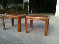 Two End Tables Solid Oak. Good Conduction 25.00 obo
