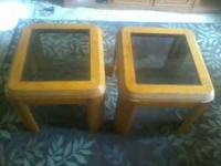 Two Glass end tables Excellent condition Coffee Table,