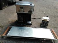 coffee maker $5 food warmer $5 kitchen scale $3 coat
