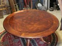Very nice coffee table. It is 19 inches tall and 28