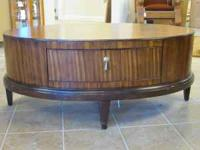 Oval wood coffee table email or call  Location: Pace