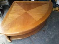 lift up oak coffee table from Raymour and Flannigans.
