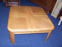 NICE HEAVY OAK COFFEE TABLE, NEW IN BOX, TOOK THIS ONE