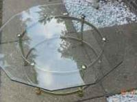 "44"" Glass Octagon Coffee Table bought at Kock Gallery."