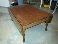 Old drop leaf table. Very nice, top has some old age