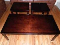 brand new coffee table and 2 end tables please call