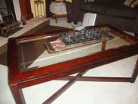 for sale a beautiful coffee table and end table, only 9