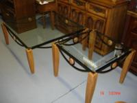 Description This Large Coffee table has a Glass Top a