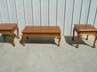 Coffee Table and 2 End tables Price $ 120.00 Call