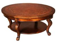 "South cone Capri Leather Circular coffee table 43"" -"