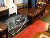 We have an assortment of table returns, overstocks, and