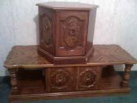 i have a wood coffee table and wood end table for sale.
