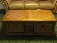 We are selling our coffee table and end table - both in