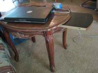 "Coffee Table 38""x17"". It has four glass panels that set"