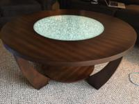 Mayfair Solid Walnut Coffee Table with think glass