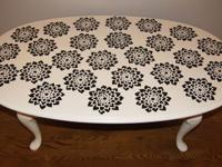 This coffee table is one of a kind and totally