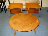 We have a three piece table set that comes in a coffee
