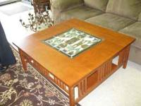 Beautiful stained glass insert coffee table, a must