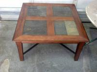 Beautiful Colored Marble Topped inlay coffee table.