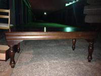 very good condition matching solid wood coffee and end