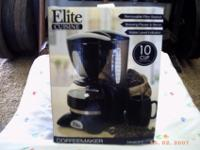 Maxi Matic Elite Cuisine 10-Cup Coffeemaker with pause