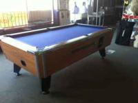 I'm selling a VALLEY coin operated bar pool table. The