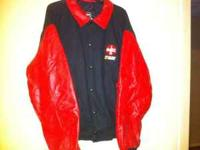 Mens leather/wool varsity style Coca-Cola Racing