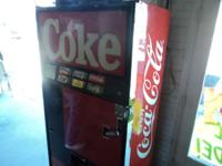 Coke Machine Made In The 80's 26 Inches Deep 39 Inches