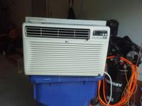 Cold LG Air Conditioner 1200 BTU runs strong with