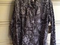 Coldwater Creek, no iron, paisley buttoned shirt