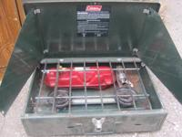 Coleman brand name camping Cook-Stove. Is but has some