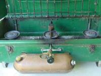 For sale is a good working Coleman 3 burner gas camp