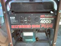 Portable Generator on tires. Briggs and Stratton 8 HP