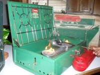 WORKING COLEMAN CAMPING STOVE IF INTERESTED YOU CAN