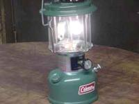 This is an old Coleman 2 mantle gas lantern that is